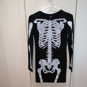 Skeleton fitted dress